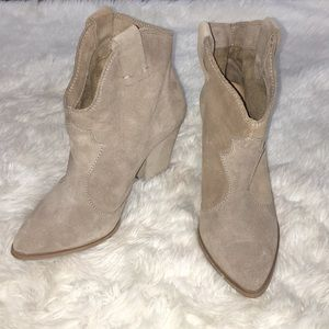 Zara Woman Suede Ankle Boots